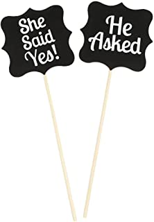 Pixnor Wooden Wedding Signs She Said Yes Sign Accessories Photo Props Kits