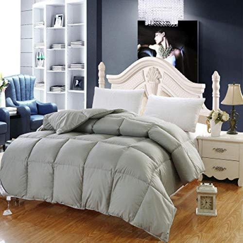 Hahaemall Queen Size Duvet -100% Cotton Anti Dust Mite & Down Proof Fabric - Anti Allergen - Cooling - Duvet Quilt-220X240Cm-5000G_Gray