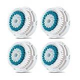 4 x cabezas de cepillo Cabezal de cepillo compatible para la limpieza facial con...