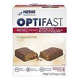 OPTIFAST Barritas Cappuccino. Estuche de 6 barritas de 65g cada una, sustitutivas de la comida para...