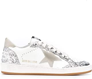 GOLDEN GOOSE Women's G35WS592V2 Silver Leather Sneakers