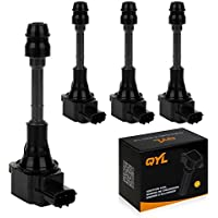 QYL Pack of 4 Ignition Coils Replacement for UF350 22448-8H315 22448-8H310 C1398 UF-350