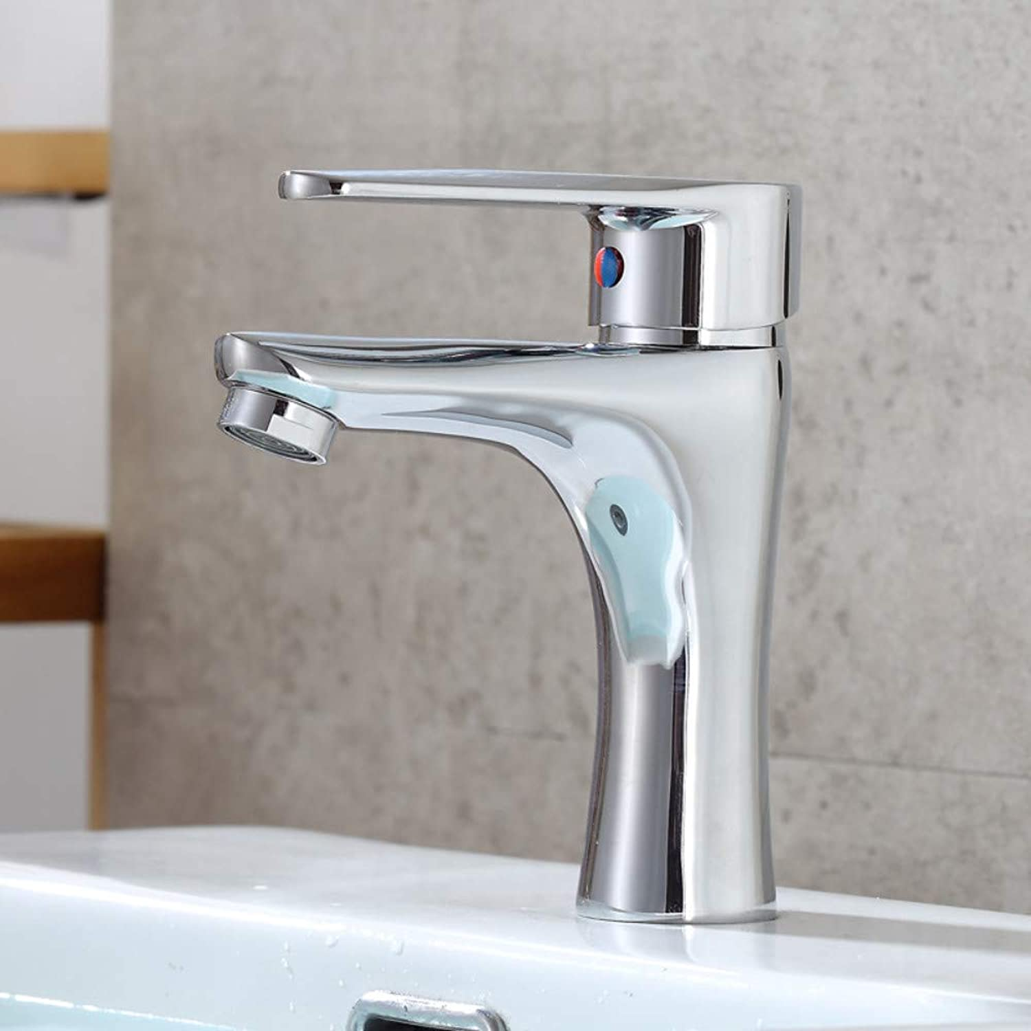 Kitchen Sink Tapbathroom Sink Tap basin Single Hole Faucet Copper?Bathroom Washbasin Mixed Water Hot And Cold Faucet Above Counter Basin Faucet