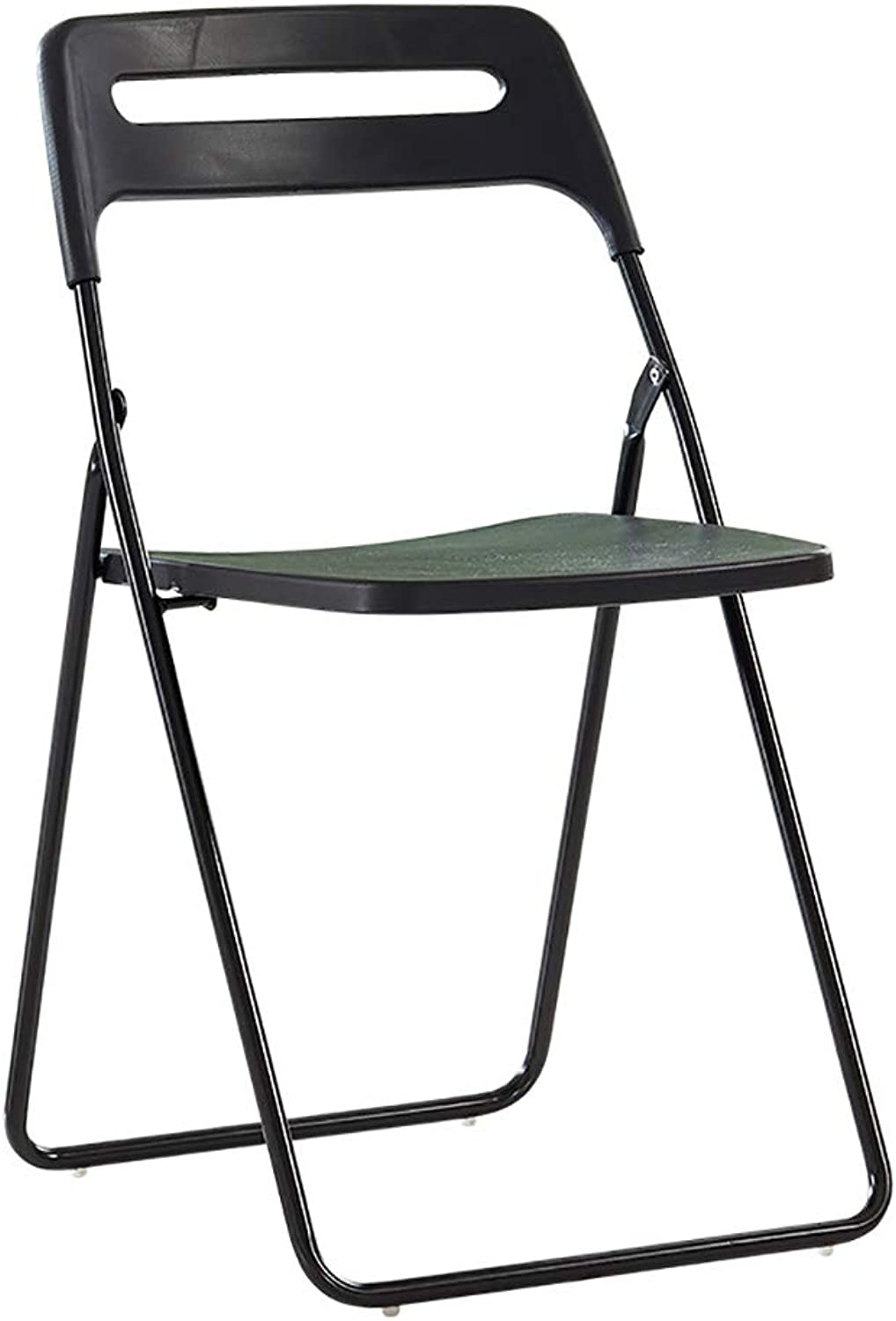 Modern Minimalist Folding chair Desk chair Computer chair Home chair Nordic Adult Dining chair Cafe Table and chair (Multi-color Size  38.5  41  78cm). (color   Black)