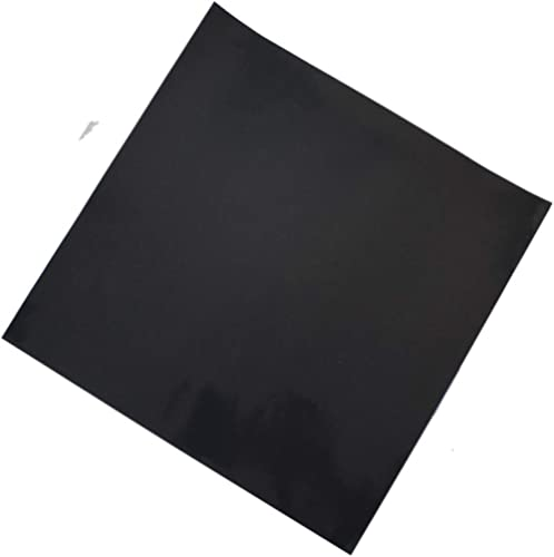 Adhesive Black Heat Resistant Rubber Pad Sheet Thin Silicone Rubber Gasket Sheet 12X12 inch,1/25 Inch Thick Gaskets D...