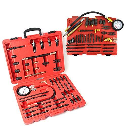DIFU Comprobador de compresión para motores de gasolina y diésel, 44 piezas, 40 bares y 600 psi.