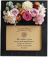 パラボッセオリジナル プリザーブドフラワー フォトフレームプリザ カンパーニュ ピンクブラック preserved flowers