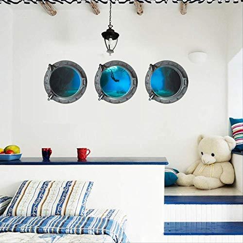 Muursticker Submarine Undersea World Sticker woonkamer slaapkamer bed decoratie verwijdert waterdichte Muursticker