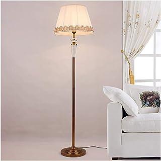 -Lampe de solon Lampadaire cristal American Retro Accueil Salon européen des étudiants Chambre Cuivre pleine nuit Lampe de...