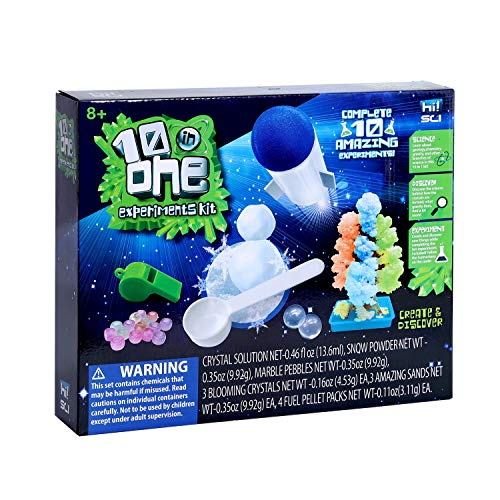 hi!SCI Science Experiments Kit for Kids, STEM 10-in-1 Science Lab Set - Educational Toy Gift for Boys Girls Ages 8+