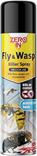 Zero In Fly and Wasp Killer Spray (300 ml Aerosol, Fast-Acting Control for Flying Insects and Bugs in The Home for Indoor ...