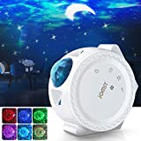 Jomst Star Projector,3 in 1 LED Moon and Star Lights,with Voice Control, 6 Lighting Effects,360-Degree Rotating Sky Laser Projector, Best for Children and Adults Bedroom and Party Decorations (White)