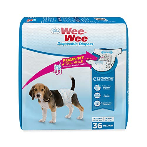 Four Paws Wee-Wee Disposable Dog Diapers 36 Count Medium