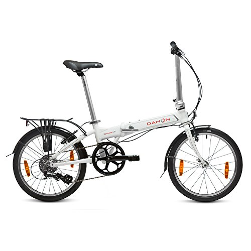 "Dahon Vitesse D8 Bicicleta Plegable, Unisex Adulto, Blanco Cloud, 20"""