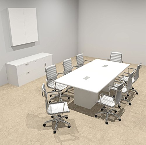 Modern Rectangular Top Cube Conference Table