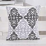 QMZ Asciugamano ricamato in cotone ricamo cuscino elefante motivo cuscino fodera in cotone Amazon tessili per la casa