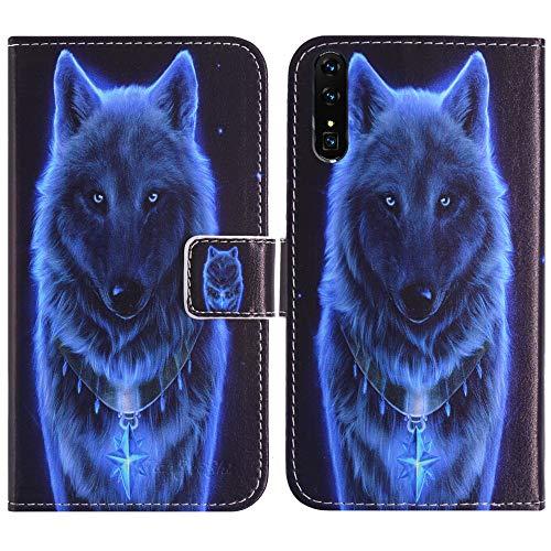 TienJueShi Lobo Función de Soporte Funda Caso Carcasa teléfono Case para XGODY Mate X 6 Inch Proteccion Cuero Cover Etui
