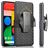 Rome Tech Belt Clip Case for Google Pixel 4a 5G ​[NOT for 4a] - Slim Heavy Duty Shell Holster Combo - Rugged Phone Cover with Kickstand Compatible with Google Pixel 4A 5G - Black