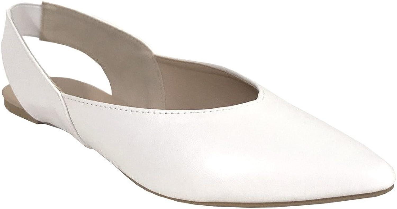 Qupid ZOOM-01 Women's Pointed Toe Slip On Slingback Flats