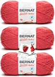 Bernat Softee Baby Yarn - 3 Pack with Patterns (Little Red Wagon)