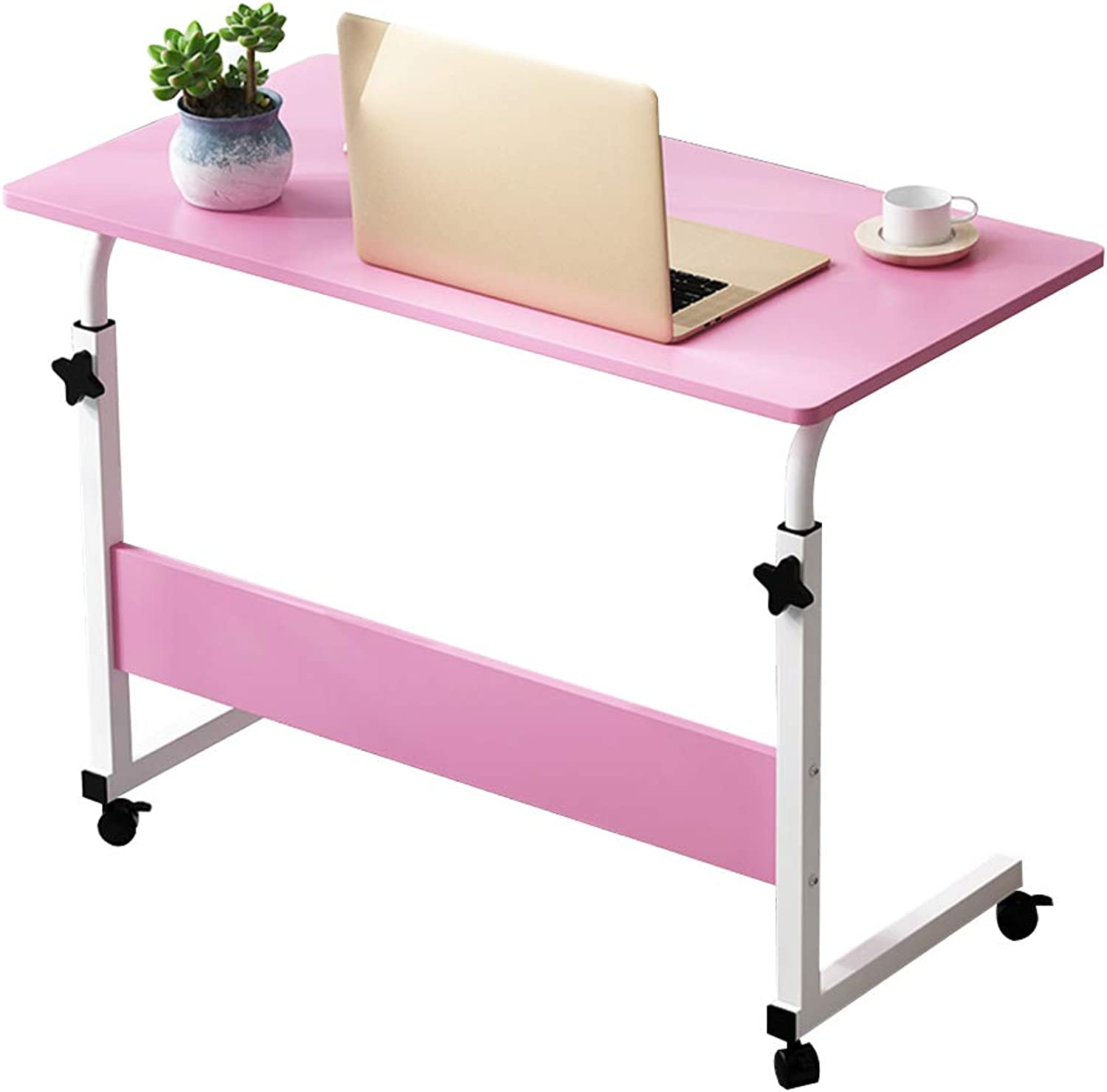 Coffee Table Type C Mobile Telescopic Tables,Lifting Side Notebook Writing Desk Household Bedside Nursing Table, 3 Sizes (Size   60  40 cm)