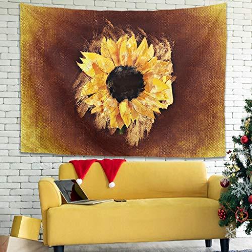 WellWellWell Tapiz de pared con diseño de girasol, para toalla de playa, 230 x 150 cm, color blanco
