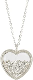 Crystal Heart Shaker Necklace