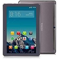 TOSCIDO 4G LTE Tablet 10 Pulgadas - Android 9.0 Certificado por Google GMS,4GB RAM,64GB ROM,Octa Core 2GHz CPU de Alta Velocidad,Doule Sim,WiFi,Doble Altavoz Estéreo - Negro