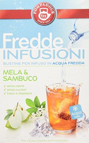 Pompadour Fredde Infusioni Mela & Sambuco - 18 filtri - (confezione da 3)