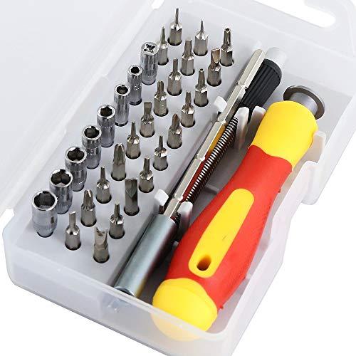 LAYMANND 33 in 1 Verwisselbare Schroevendraaier Set Precisie Magnetische Schroevendraaier Kit Reparatie Gereedschappen voor Laptops Mobiele Apparaten Polshorloges