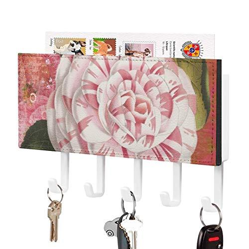 Organizador de llaves montado en la pared, diseño de loto y chakra de tercer ojo para pared, decoración de pared, para entrada, almacenamiento, sala de estar, pasillo, oficina