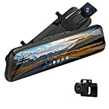 24H Monitor Parcheggio Dash Cam Specchietto Retrovisore 10'' con Hardwire kit, 1080P Touchscreen Telecamera per Auto Retrovisione,Sensore G, Registrazione Loop, 170° Visione Notturna