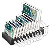 NEXGADGET 10 Port USB Ladestation Dockingstation und Mehrfachsteckdose mit maximal 2,4A...