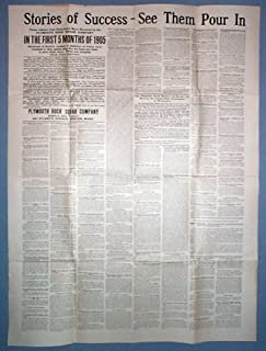 1905 Plymouth Rock Squab Co. Advertising Broadside