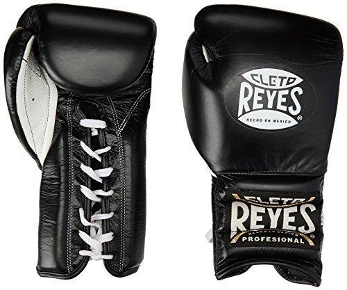 Cleto Reyes professionelle Trainings-Boxhandschuhe mit traditionellen Schnürsenkeln L schwarz