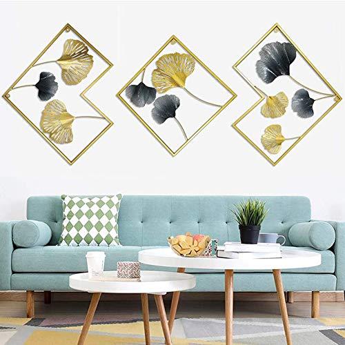 Little stars 3D Effekt Wanddekoration,Laminierte Ginkgo biloba Blattform,europäischer Stil und hohles Handwerk Geeignet für Wohnzimmer Schlafzimmer Hotel
