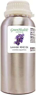 GreenHealth Lavender 40-42 – 32 fl oz (946 ml) Aluminum Bottle w/Plug Cap – 100% Pure Essential Oil
