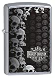 Zippo Harley-Davidson Lighter, Metal, Silver, One Size