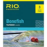 RIO Products Leaders Bonefish Knotenloses Vorfach, 6 kg, transparent, 3 Stück