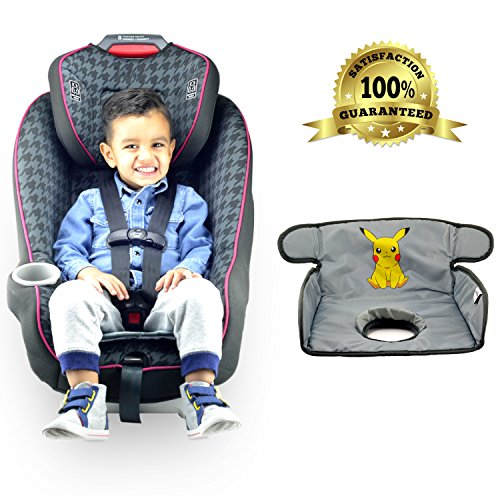 Piddle Pad for Potty Training Toddlers Infants Baby| Car Seat Liner Waterproof / Leak Free Technology | Premium Quality Seat Saver | Pokemon Pikachu |Machine Wash & Dry By Alpha-One Sellers