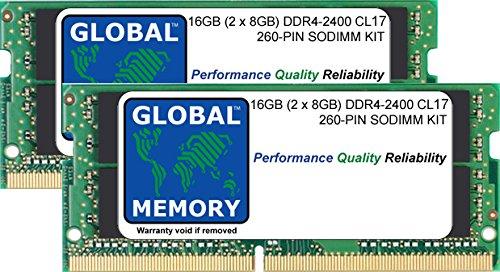 "16 GB (2 x 8 GB) DDR4 2400 MHz PC4-19200 260 Pines SODIMM Memoria Kit para Intel iMac 27"" Retina 5K (2017)"