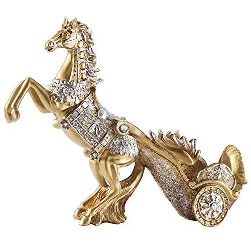 CAIJINJIN estante del vino Adornos de la sala traída por caballo de Vehículos estante del vino Decoración Creativa Inicio Accesorios Vino regalo Knick Knacks 38cm * 13cm * 31cm decoraciones caseras Al