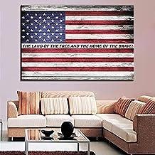 tzxdbh Pintura Decorativa Arte de la Pared Lienzo Pintura al óleo Bandera Nacional Cartel Mural Retro para el Pasillo del Hotel Sala de Estar decoración del hogar