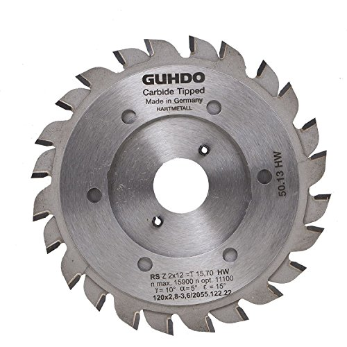 Guhdo HW Vervangend zaagblad 140 x 2,8 3,6/Boring diameter: 36 mm/Z2 X 12 WZ/Made in Germany