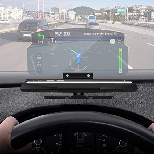 junengSO Proyector de navegación GPS para Coche HUD Pantalla Head Up Display Soporte para teléfono móvil