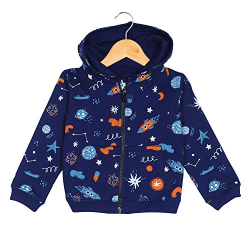 The Mom Store Winter Jackets for Kids, Sweatshirt and Hoodies for Baby Boy and Baby Girls (Space Magic, 2-3 Years)