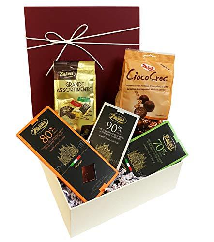 Edles Präsent Schokoladen Geschenkset süße Verführung mit erlesenen italienischen Schokoladen, Nougat, Gianduiotti, Pralinen Spezialitäten