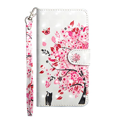 Samsung Galaxy J4 Plus Case, Flip Shockproof PU Leather Wallet Phone Cover 3D Animal Art with Stand Magnetic Gel Silicone Bumper Back Slim Fit Protective Case for Samsung Galaxy J4 Plus Cat & Tree