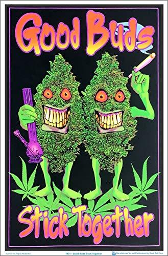Good Buds Stick Together Pot Marijuana Blacklight Poster 23 x 35in