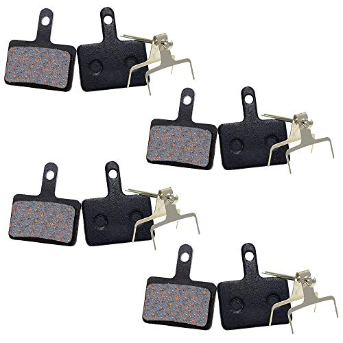 4 Pares de Pastillas de Freno, Bicicleta Pastillas de Freno Semi-metálico, Pastillas Freno Disco para Shimano M315 M355 M375 M395 M416 M446 M447 M475 M515 M525 M575